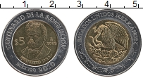 Изображение Монеты Мексика 5 песо 2008 Биметалл UNC- 100 лет революции, Э