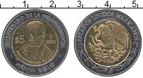 Изображение Монеты Мексика 5 песо 2008 Биметалл UNC- 200 лет Независимост
