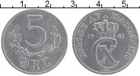 Изображение Монеты Дания 5 эре 1941 Алюминий XF Кристиан Х