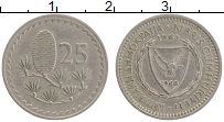 Изображение Монеты Кипр 25 милс 1963 Медно-никель XF