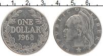 Изображение Монеты Либерия 1 доллар 1968 Медно-никель XF