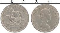 Изображение Монеты Новая Зеландия 1 шиллинг 1964 Медно-никель XF+ Елизавета II
