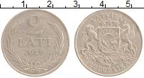 Изображение Монеты Латвия 2 лата 1926 Серебро XF-