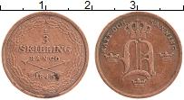 Изображение Монеты Швеция 1/3 скиллинга 1845 Медь XF Оскар