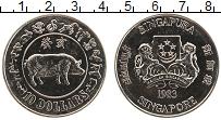 Изображение Монеты Сингапур 10 долларов 1983 Медно-никель UNC Год Свиньи