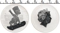 Изображение Монеты Тувалу 1 доллар 2020 Серебро Proof Елизавета II. Барт С
