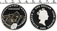Изображение Монеты Острова Кука 1 доллар 2008 Серебро Proof Елизавета II. Самолё