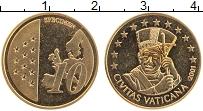 Изображение Монеты Ватикан 10 евроцентов 2001 Латунь UNC Проба. UNUSUAL