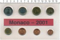 Изображение Подарочные монеты Монако Евронабор 2001 года 2001  UNC