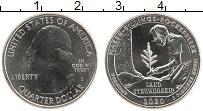 Изображение Монеты США 1/4 доллара 2020 Медно-никель UNC