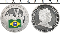 Изображение Монеты Острова Кука 1 доллар 2001 Серебро Proof- Чемпионат мира по фу
