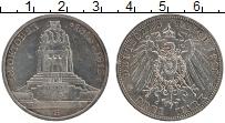 Изображение Монеты Саксония 3 марки 1913 Серебро XF Е. 100 лет битвы при