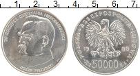 Изображение Монеты Польша 50000 злотых 1988 Серебро UNC- 70 лет Независимости