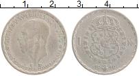 Изображение Монеты Швеция 1 крона 1949 Серебро XF Густав V