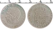 Изображение Монеты Швеция 1 крона 1967 Серебро XF Густав VI Адольф