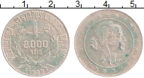 Изображение Монеты Бразилия 2000 рейс 1929 Серебро XF