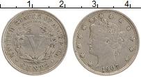 Изображение Монеты США 5 центов 1907 Медно-никель XF