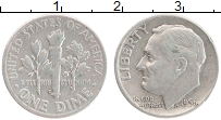 Изображение Монеты США 1 дайм 1956 Серебро XF D
