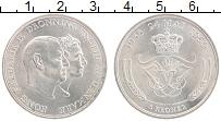 Изображение Монеты Дания 5 крон 1960 Серебро UNC- 25 лет свадьбы Фреде
