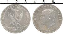 Изображение Монеты Турция 1 лира 1960 Серебро UNC- Майская революция