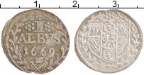 Изображение Монеты Майнц 1 альбус 1669 Серебро XF