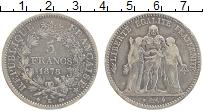 Изображение Монеты Франция 5 франков 1878 Серебро XF Редкий год