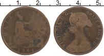 Изображение Монеты Великобритания 1/2 пенни 1861 Медь VF Виктория