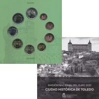 Изображение Подарочные монеты Испания Набор 2021 года 2021  UNC В набор входят восем