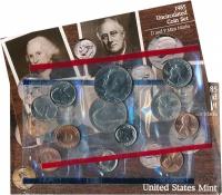 Изображение Подарочные монеты США Набор 1985 года 1985  UNC