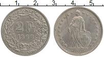 Изображение Монеты Швейцария 2 франка 1963 Медно-никель XF