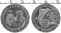 Изображение Монеты Испания 200 песет 1993 Медно-никель UNC Хуан Вивес