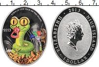 Изображение Монеты Ниуэ 1 доллар 2013 Серебро Proof Год змеи
