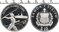 Изображение Монеты Самоа 10 долларов 1991 Серебро Proof Олимпийские игры в Б