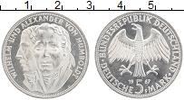 Изображение Монеты ФРГ 5 марок 1967 Серебро UNC Вильгельм и Александ