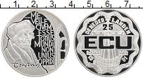 Изображение Монеты Нидерланды 25 экю 1991 Серебро Proof Эразм Роттердамский