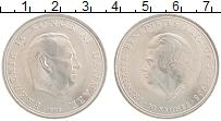 Изображение Монеты Дания 10 крон 1968 Серебро UNC- Фредерик IX и Бенеди