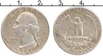 Изображение Монеты США 1/4 доллара 1961 Серебро XF
