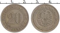 Изображение Монеты Германия 20 пфеннигов 1887 Медно-никель XF А