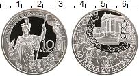 Изображение Монеты Австрия 10 евро 2005 Серебро Proof 60 лет республике