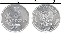 Изображение Монеты Польша 5 грош 1958 Алюминий XF