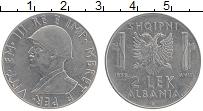 Изображение Монеты Албания 2 лека 1939 Медно-никель XF Виктор Эммануил III