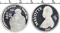 Продать Монеты Майотта 1/4 евро 2004 Серебро