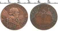 Изображение Монеты Великобритания 1/2 пенни 1795 Медь VF Токен. Джеймс Лакинг