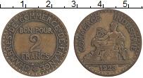 Изображение Монеты Франция 2 франка 1923 Бронза XF