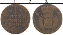 Изображение Монеты Гессен-Кассель 1 пфенниг 1804 Медь VF WK