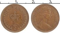 Изображение Монеты Великобритания 1/2 пенни 1977 Бронза XF Елизавета II.