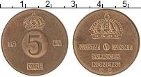Изображение Монеты Швеция 5 эре 1964 Бронза XF Густав VI Адольф
