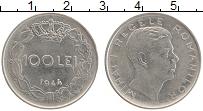 Изображение Монеты Румыния 100 лей 1944 Медно-никель XF Михай I