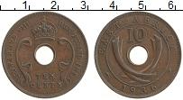 Изображение Монеты Восточная Африка 10 центов 1936 Бронза XF Эдуард VIII