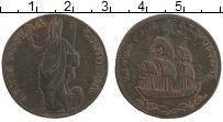Изображение Монеты Великобритания 1/2 пенни 0 Медь XF Токен. Ливерпуль